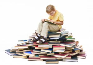 Lesestund for barn @ Skien bibliotek, Peer og Solveig