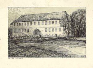 Arkitektene Bjercke & Eliassens premierte utkast til nytt bibliotek fra 1926. Den urealiserte bygningen var planlagt å ligge der Lietorget ligger i dag.