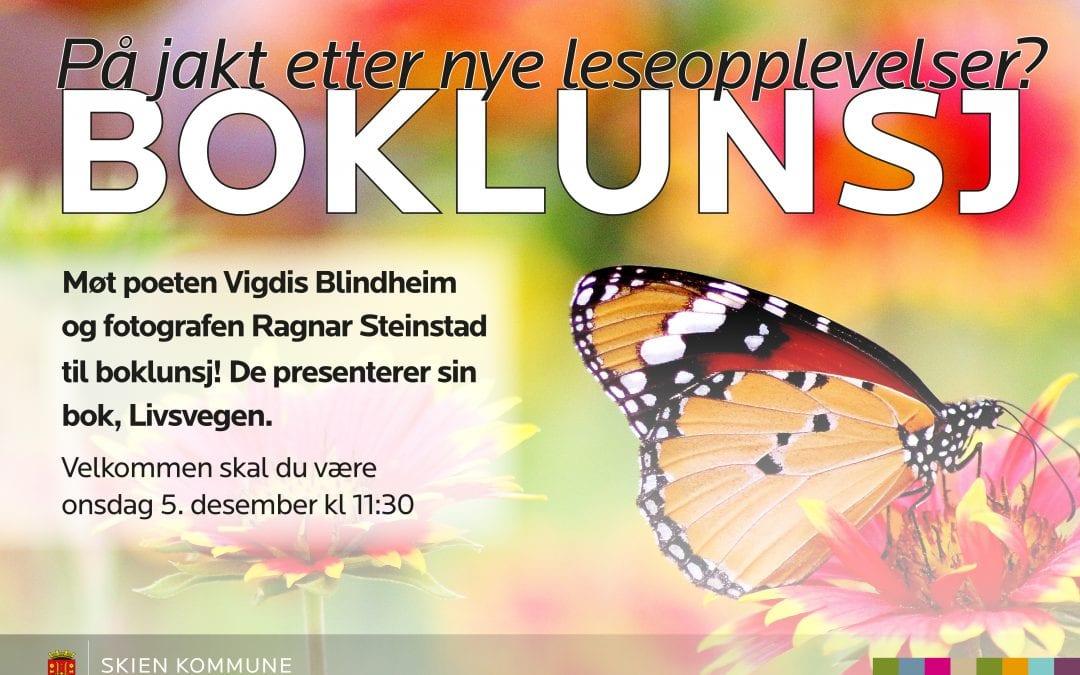 Møt poeten Vigdis Blindheim og fotografen Ragnar Steinstad til boklunsj