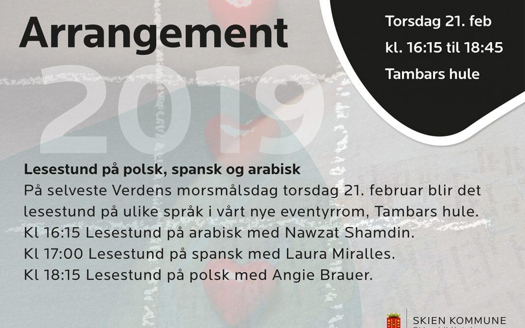 Lesestund på polsk, spansk og arabisk – Verdens morsmålsdag
