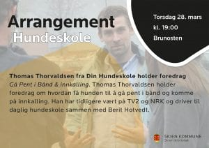 Thomas Thorvaldsen fra Din Hundeskole holder foredrag