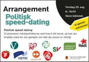 Politisk speed-dating - igjen! @ Skien bibliotek