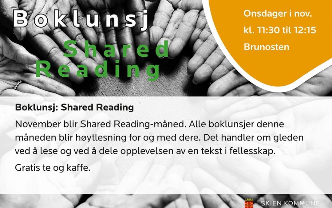 Boklunsj: Shared Reading