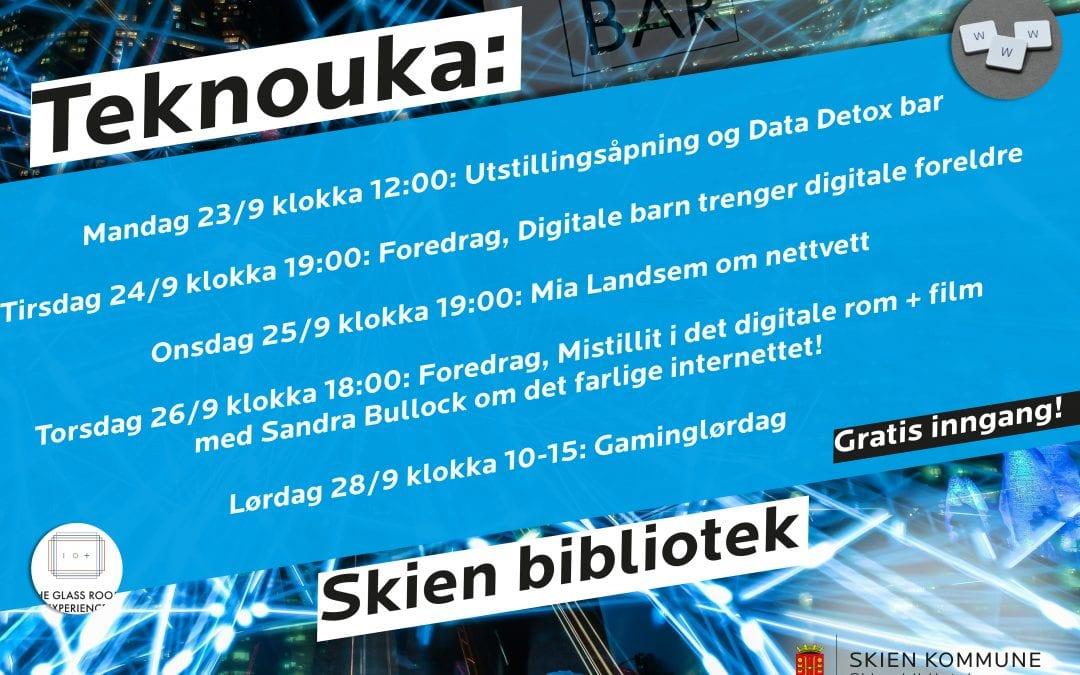 Kom, bli med på Teknouka på Skien bibliotek