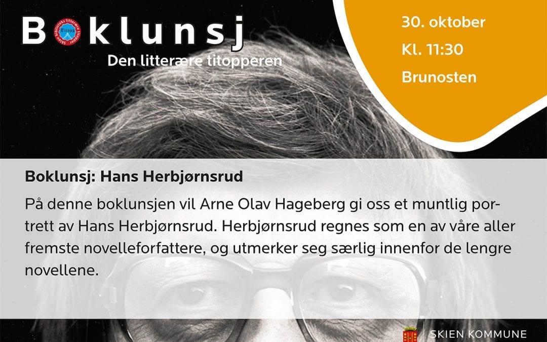 Boklunsj: Hans Herbjørnsrud